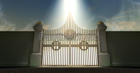 religion himmel paradies himmelreich saeulen tor
