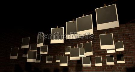 haengende polaroid galerie