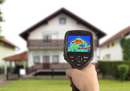 imagen termica de la casa