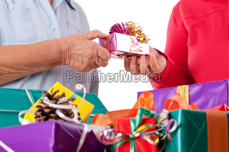 senior and daughter are rich gift