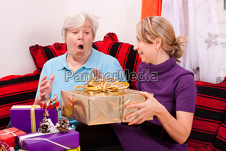 old woman gets great present from