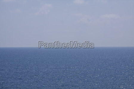 blue sea with blue sky and