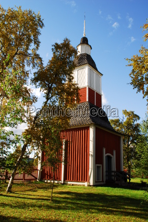 kirchturm in schweden lappland