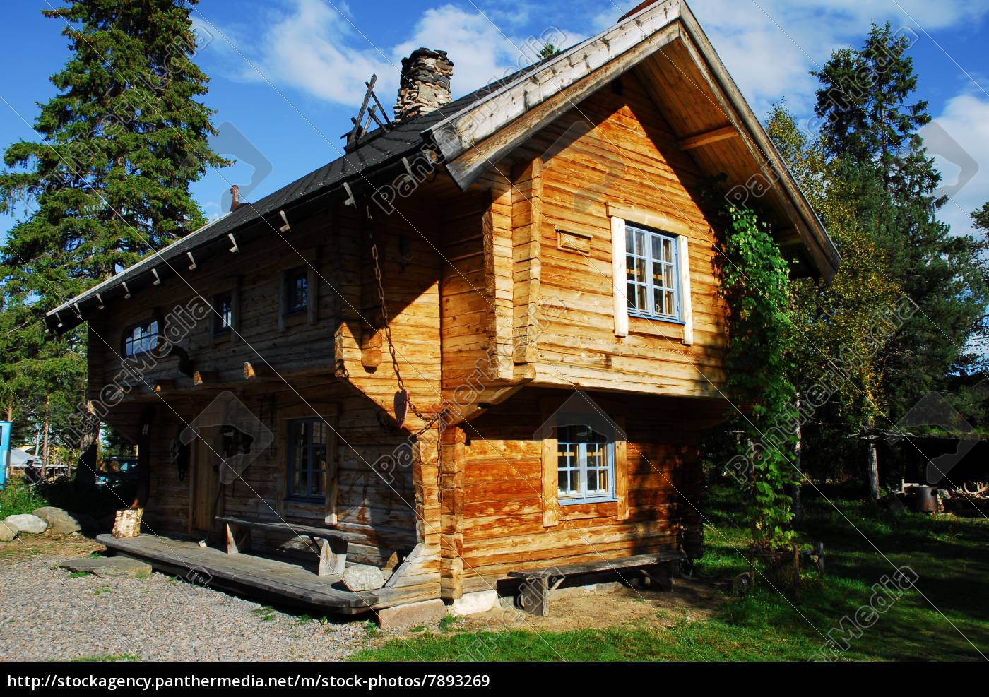 blockhaus, in, schweden - 7893269