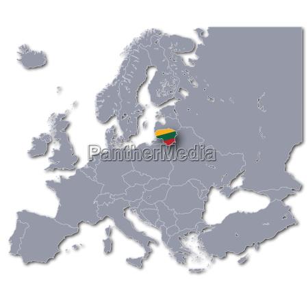 europa karte litauen
