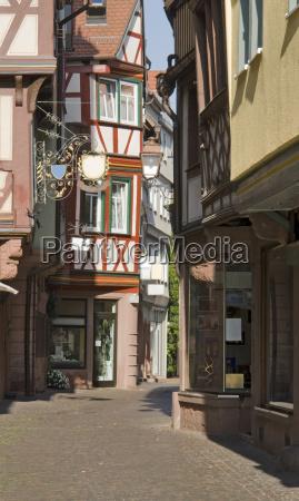 wertheim old town at summer time