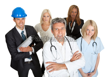 group of business people isolated on