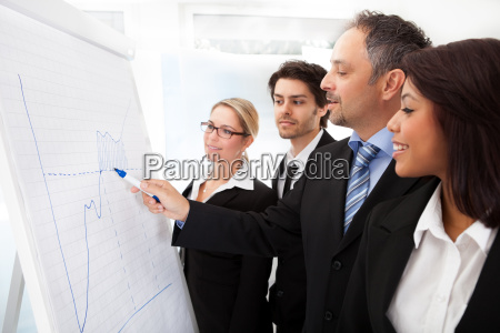 group of business people at presentation