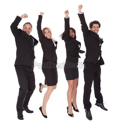 multi ethnic team of business people