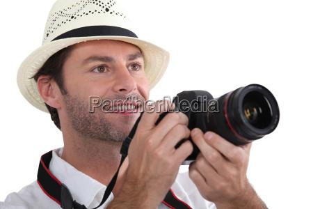 nahaufnahme eines touristen