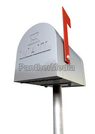 alte schule retro metal mailbox