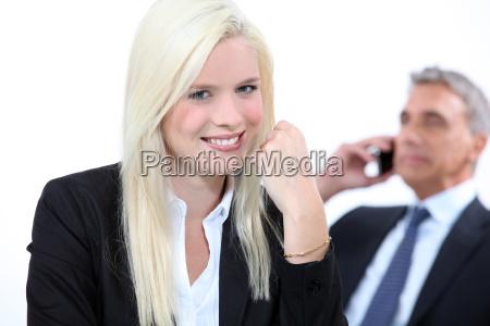 smiling blonde businesswoman