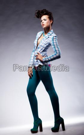 fashion trendy lady in elegant pose