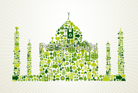 india go green concept illustration