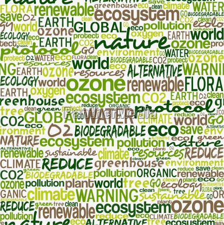 go green words seamless pattern