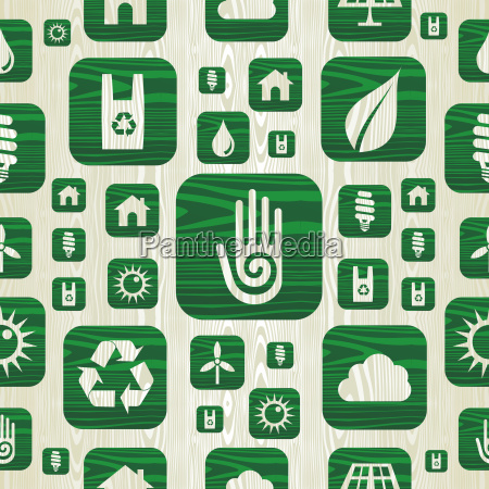 environmental green icons pattern in organic