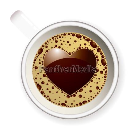 kaffeetasse liebesherz