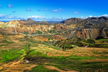 landmannalaugar bunte bergelandschaft ansichtisland