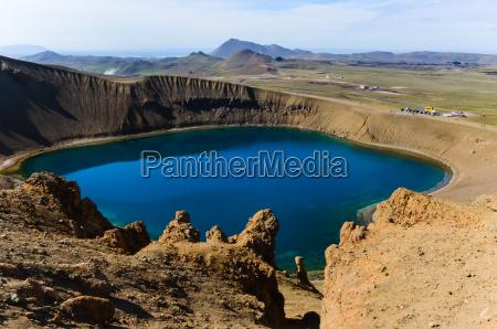 viti krater in krafla vulkanischen gebietisland