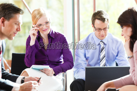 business meeting in einem buero