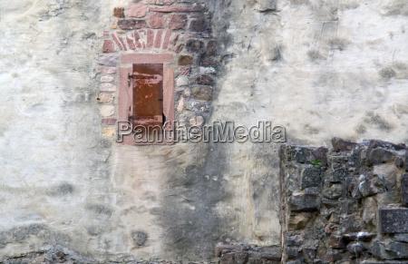 wall detail of the hochburg emmendingen