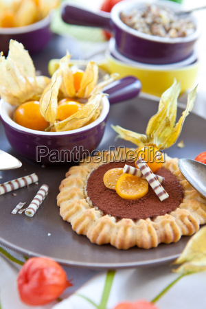 kuchen gebaeck physalis schokolade keks schoko