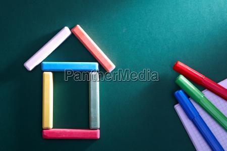blau tafel objekt bildung ausbildung bildungswesen