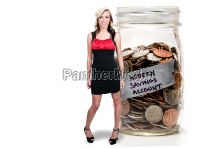 woman with her retirement account