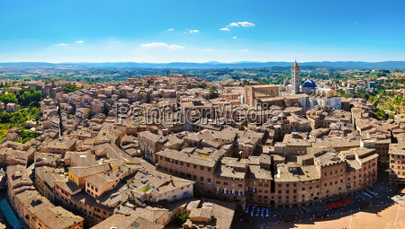 sienna birds eye panorama view from