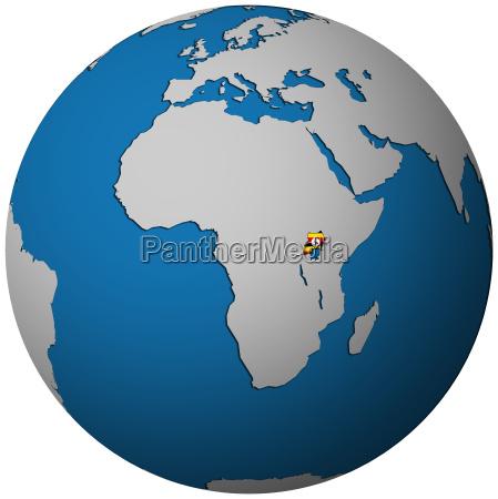 freisteller politisch afrika weinlese fahne abgeschieden