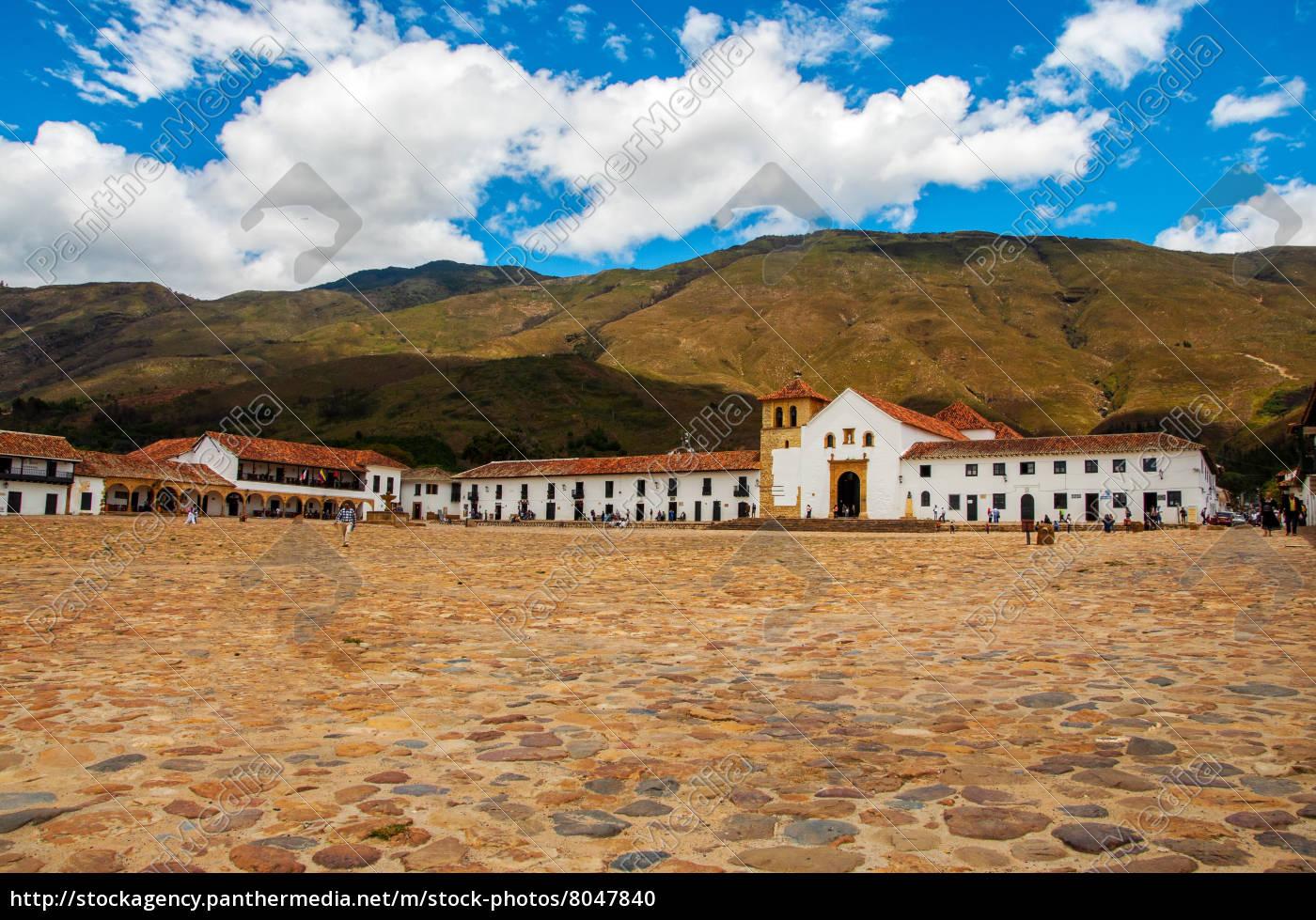villa, de, leyva, town, square - 8047840