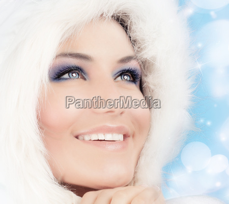 snow queen beautiful woman in christmas