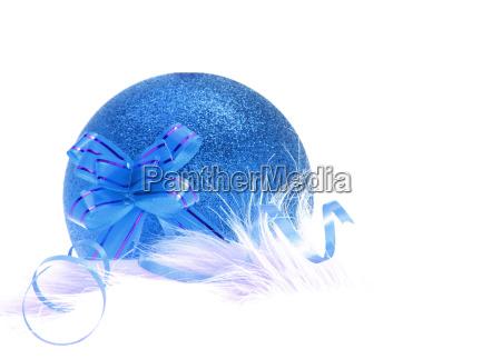 blaues weihnachts und neujahrsschmuck