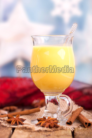 egg punch with christmas decoration