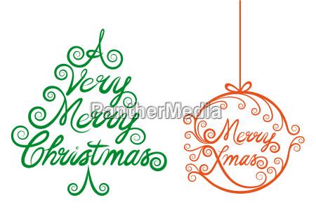 christmas tree and xmas ball