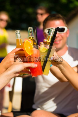 people partying at the beach