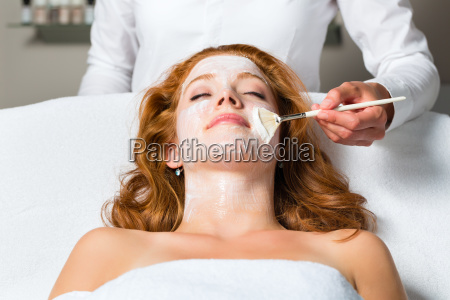 cosmetics applying facial mask