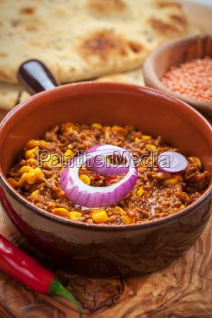 mexican chili con carne mit roten