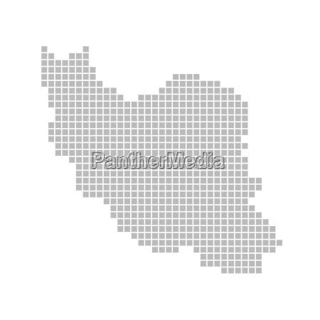 karte aus pixeln iran