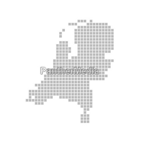 Niederlande Karte Umriss.Bildagentur Panthermedia 8103610