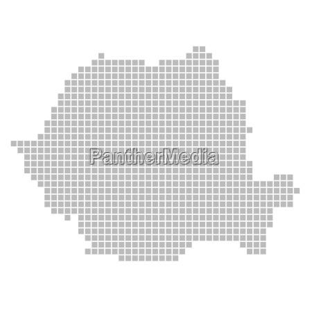 karte aus pixeln rumaenien