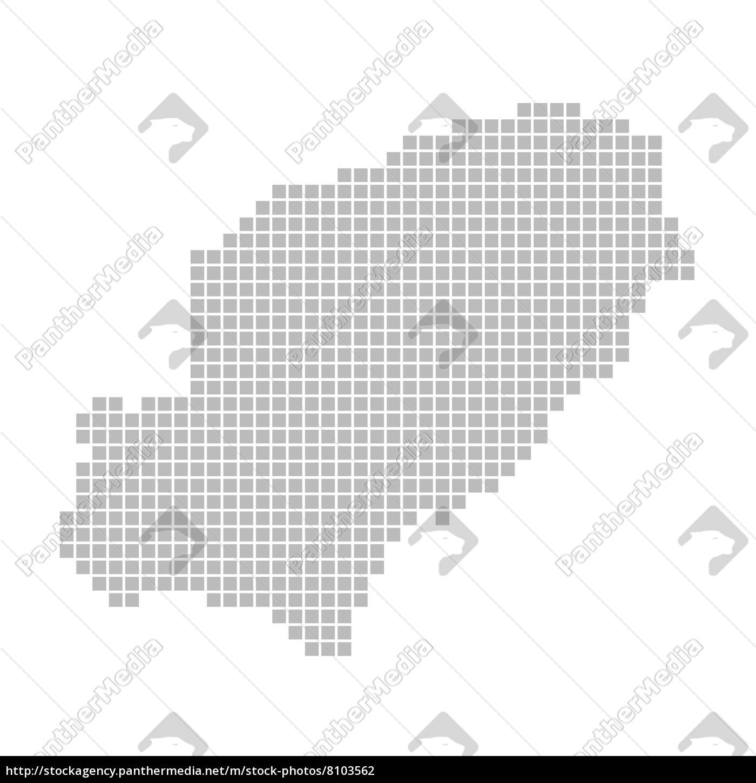 Ibiza Karte Umriss.Stock Photo 8103562 Karte Aus Pixeln Ibiza