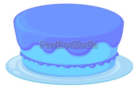 blue cake in a dish