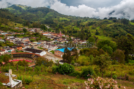 a view of a colombian town