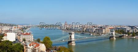 panorama ueberblick ueber budapest ungarn