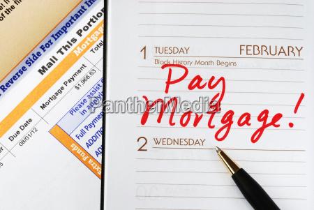 achten sie darauf die hypothek rechtzeitig