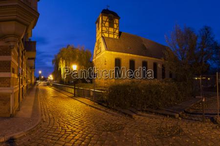 sabine church in prenzlau evening