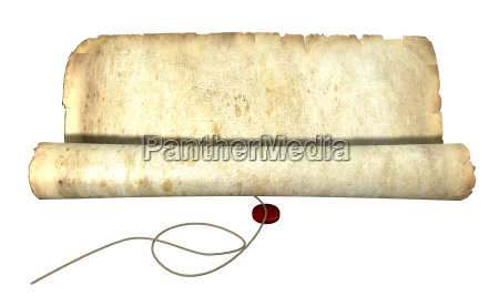 old scroll unrolling with string