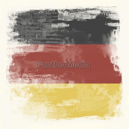 grunge flagge deutschland