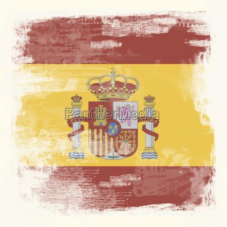 grunge flagge spanien